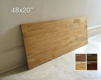 48x20 Spruce Wood Table Top, Tabletop, Wood Desk Top, DIY Table, Desk Top. Made to Order. 4 COLORS AVAILABLE.  Free Shipping!
