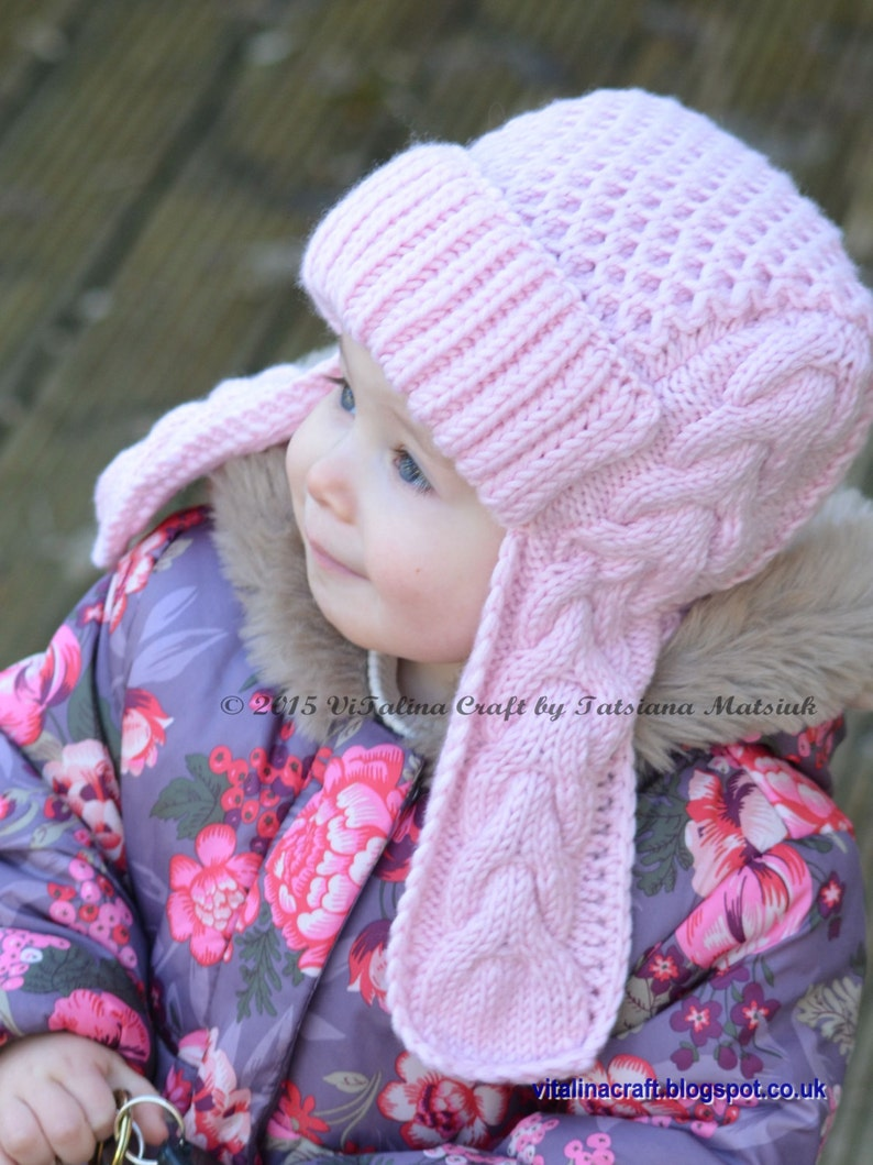 Knitting Pattern Winterberry Earflap Hat From Toddler to  49e13cadc43