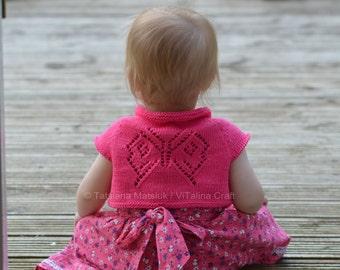 Knitting Pattern - Papillon Bolero (Cardigan) - Baby, Child sizes in ENG and RUS