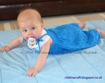 Knitting Pattern - Dandelion Dream Romper (Baby sizes)