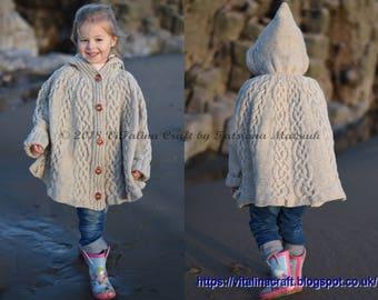 Knitting Pattern - Fairyland Poncho (Toddler and Child sizes)