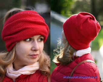 Knitting Pattern - Transformer Hat (Child and Adult sizes)