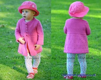 Knitting Pattern - Diamond Drops Cardigan (Baby and Child sizes)