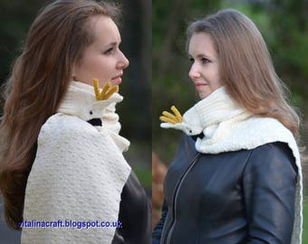 Knitting Pattern - White Cockatoo Scarf (One size)