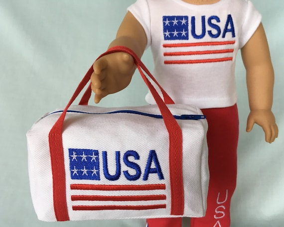 62df8980872f Olympic USA Patriotic Duffle Bag for American Girl 18 Inch