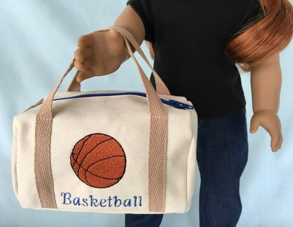 25000a9846dc Basketball Duffle Bag for American Girl 18Inch Doll