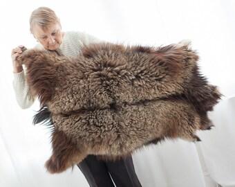 SALE!!! Extra Large Luxurious Genuine Dagestanian Goatskin Rug  Sheepskin Rug