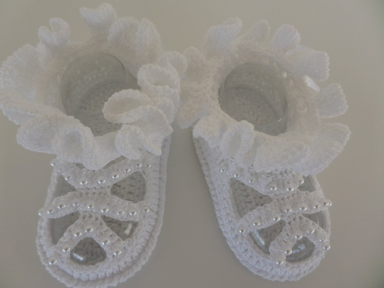 crochet baby booties, baby girl ballet slippers. crochet baby shoes for newborn to 06 months.