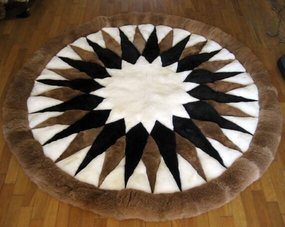 Nueva alfombra redonda de alpaca de 72 a 180cm. 100%   Etsy
