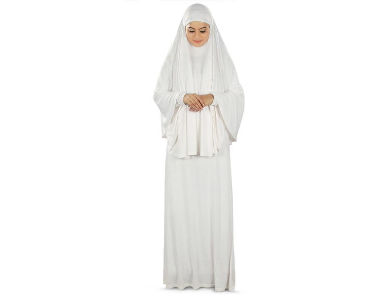 b9737bf85b1 MyBatua Muslim Women White Prayer Abaya Hajj And Dua Prayer