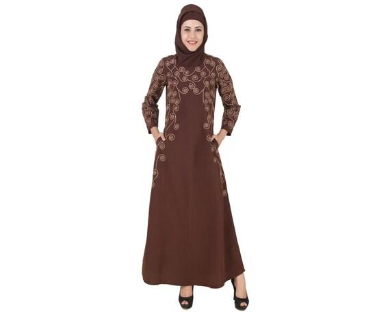 MyBatua braun kashibo abaya muslim traditionellen islamischen