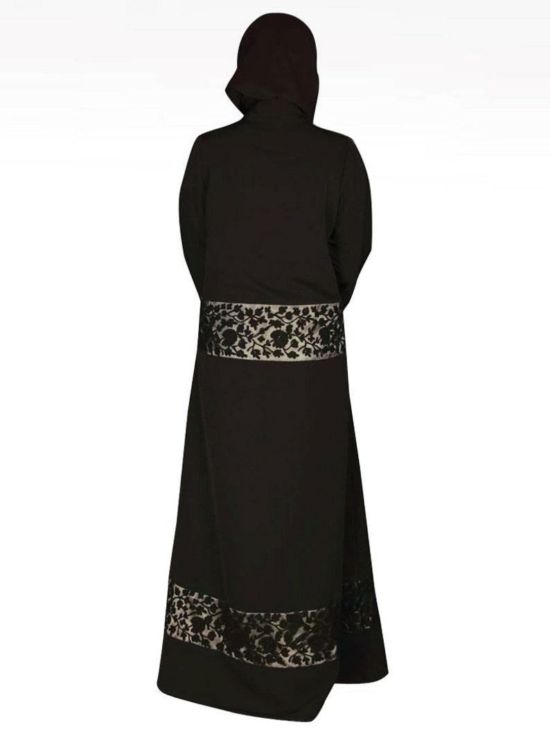 AY-017 Fancy Party And Occasion Wear Ladies Long Gown MyBatua Fancy Black Embroidered Kashibo Abaya Jilbab Jalabiya Islamic Clothing