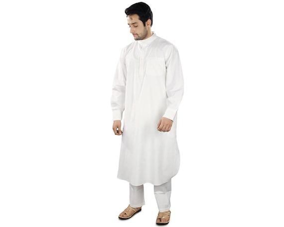 MyBatua Men's Cream Kurta Pajama with Chicken Embroidered QH4hH