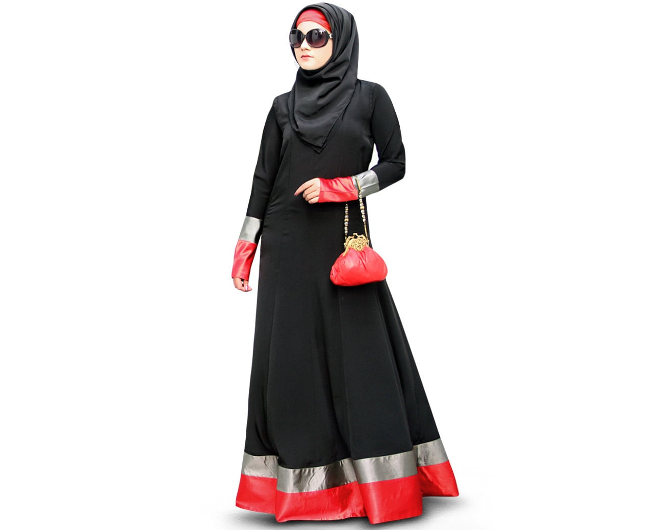 MyBatua Muslim Frauen Schwarz Satin Und Krepp Abaya | Etsy
