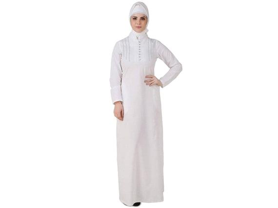 MyBatua Weiße Baumwolle Abaya Islamische Hajj tragen langes   Etsy