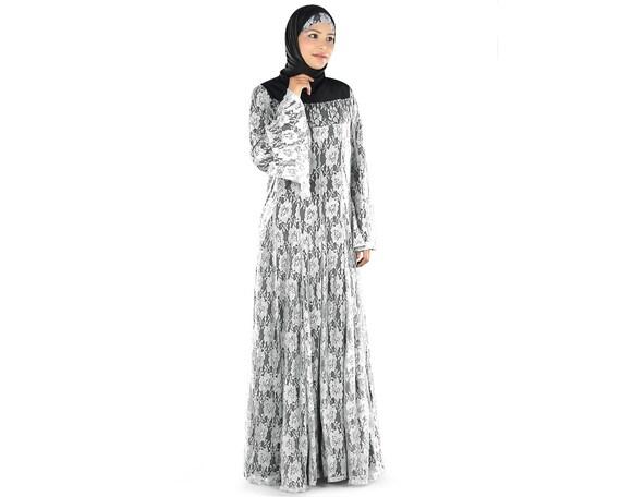 MyBatua belle fleur blanche net abaya dubaï fantaisie burka   Etsy