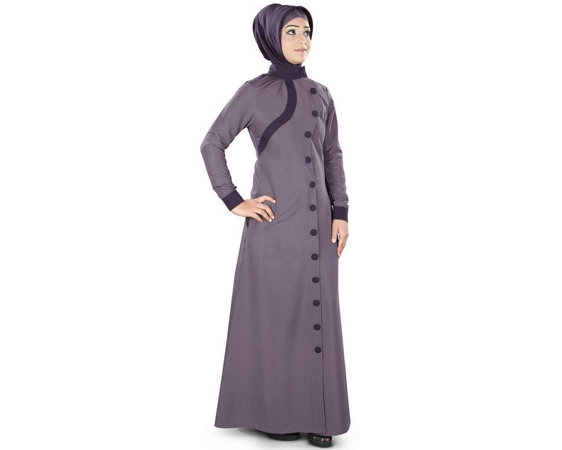 74878a9e559 MyBatua Beautiful Purple Kashibo Abaya Front Open Ethnic