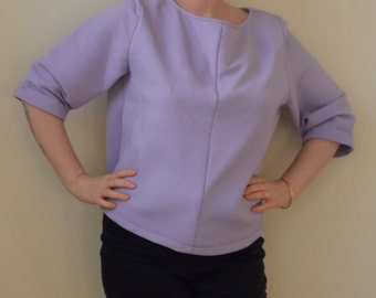 SALE!!!!!!! Marked down- Periwinkle oversized geometric shrug top- M/L