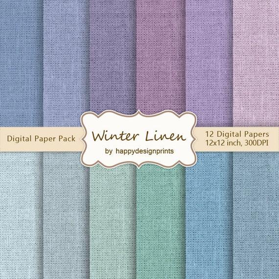 hiver couleurs lin toile de jute toile tissu textur bleu pack etsy. Black Bedroom Furniture Sets. Home Design Ideas