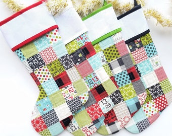 personalized christmas stocking patchwork stocking cross stitchembroidery stocking cuff quilted stocking custom family stockings