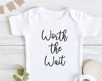 Worth the Wait onesieInfertilityIUIIVFAdoptionSurrogacy onesie