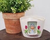 Vintage Dutch Girl Planter
