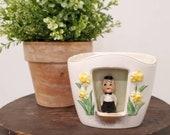 Vintage Dutch Boy Ceramic Planter