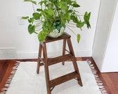 Vintage Solid Wood Step Ladder