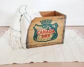 Vintage Canada Dry Wood Crate 1963