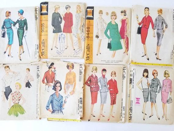Vintage Group Of 40 McCalls Patterns 40s 40s Etsy Extraordinary Mccalls Patterns