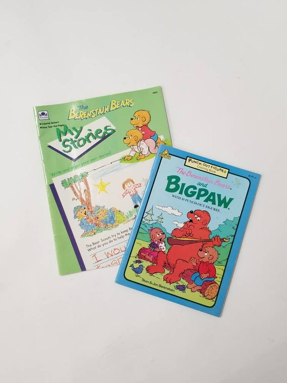 Two Vintage The Berenstain Bears Coloring and Writing Books