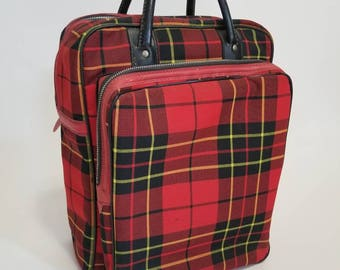 Vintage Thermos Scottish Tartan Plaid Picnic Set with 2 Thermoses and large Box