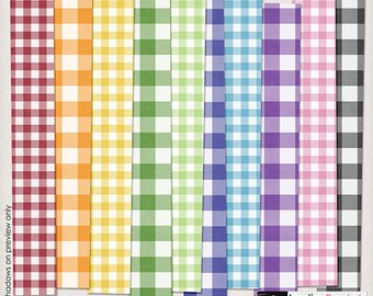 INSTANT DOWNLOAD**Essential Gingham Paper Pack - Digital Paper Pack for Disney, Mickey Mouse