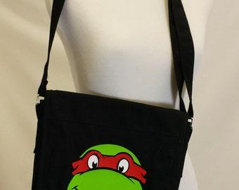 3d463140808 Ninja Turtle Canvas Messenger Bag Book Bag Satchel Preschool Bag Gym Bag  Lunch Bag Computer Tablet Bag