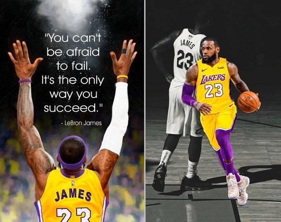 Lebron James La Lakers Inspirational Quote Poster Print Etsy