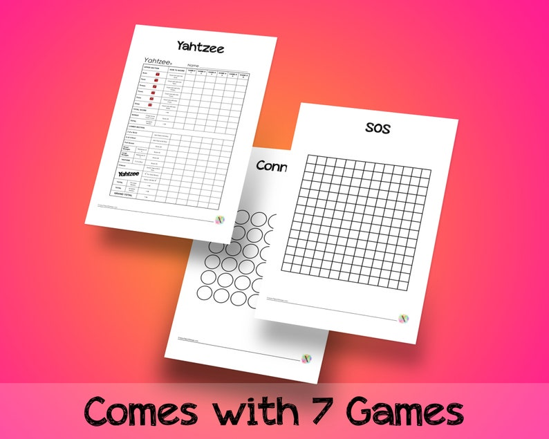 graphic relating to Printable Paper Games for Adults identified as Pleasurable Paper and Pen Online games - Get together Video games - Yahtzee, SOS, Dots Containers, Tic Tac Toe, Midnight Insanity, Countdown, Communicate 4 - PRINTABLE Down load