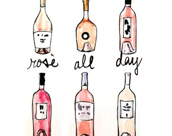 Bar Cart Art: Rosé All Day
