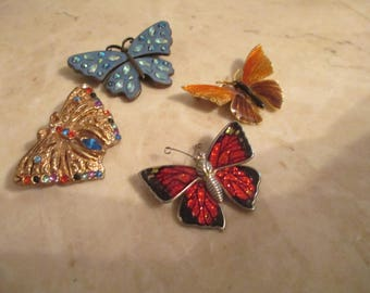 Butterfly Pins   (set of 4)