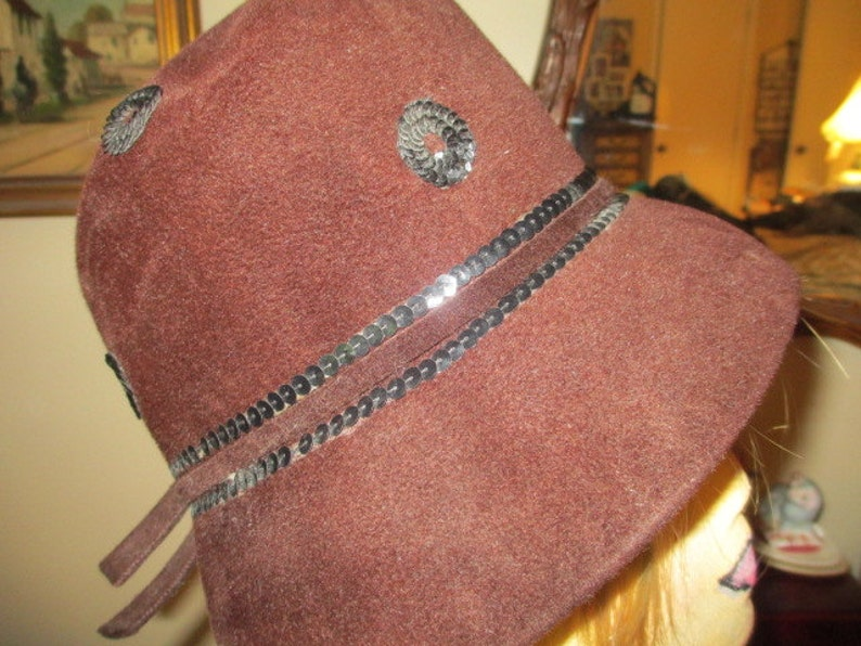 Sequined Cloche Hat
