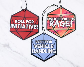 DnD D20 Air Fresheners Double-Sided Strong Smell Scent