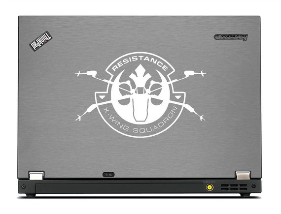 Laptop Vinyl Sticker Decal X WING FIGHTER Star Wars Force Awakens Car
