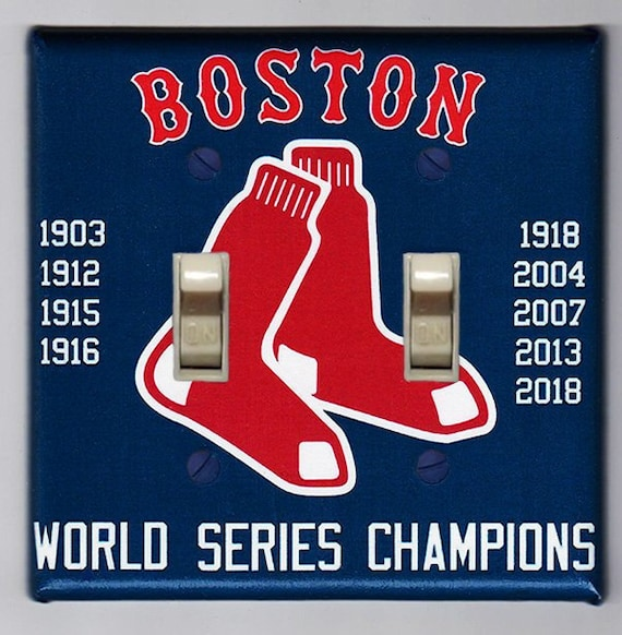 Boston Red Sox 2018 Double Light Switch Cover Plate Red Sox Home Decor