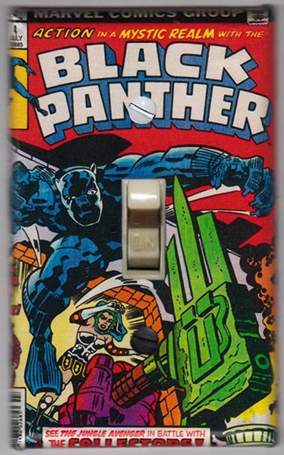 BLACK PANTHER MARVEL Light Switch Covers Home Decor Outlet MULTIPLE OPTIONS