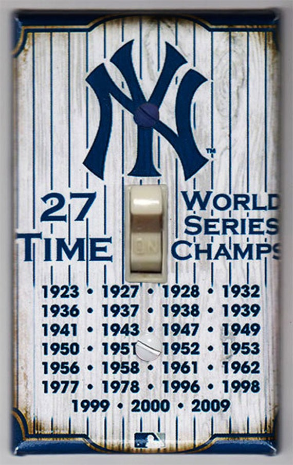 New York Yankees World Series Champions Double Light Switch Cover Plate