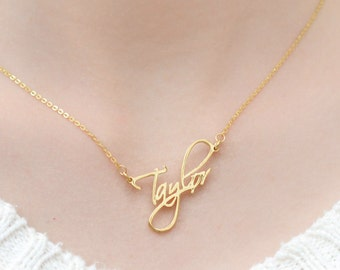 Cursive Name Necklace - Personalized Name Necklace - Personalized Jewelry - Custom Name Plate Necklace - Personalized Bridesmaids Gifts