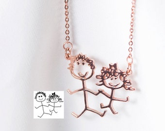 Children's Drawing Necklace – Child's Artwork Necklace – Kid's Art Necklace – Wearable Art - Drawing jewelry – Art jewelry