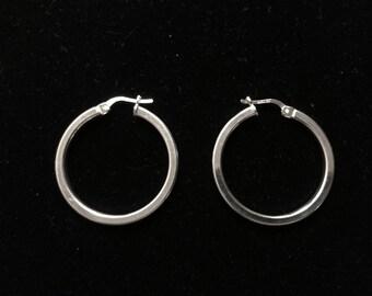 Italian sterling silver hoop earrings
