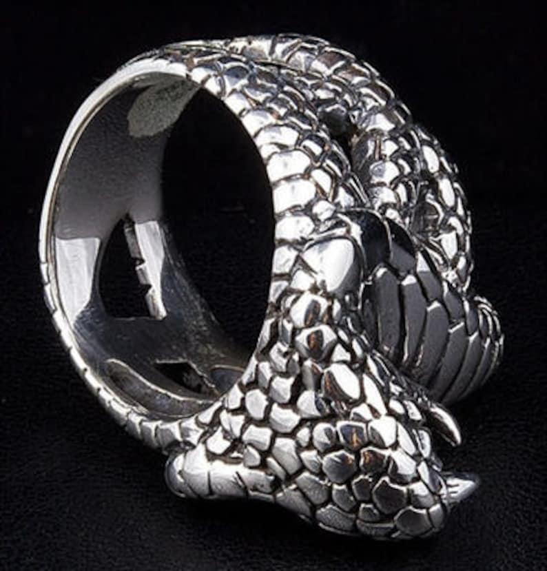 28.58 g Sterling Silver Size 11 Big /& Heavy Men/'s Ring King Cobra Men/'s Ring