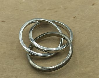 925 FAS Stamped Silver Triple Ring