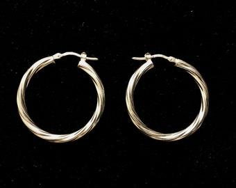 Sterling silver Italy hoop earrings